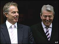 Tony Blair and Alan Johnson