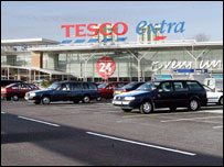 Tesco extra in Stockport