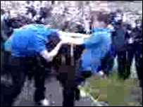 YouTube screengrab of girls fighting