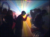 Dancers at a rave