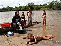 Familia en R�o Corrientes