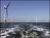 Wind farm off the Great Yarmouth