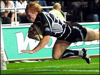 Ritchie Pugh's late try sealed a dramatic Ospreys victory