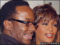 Whitney Houston and Bobby Brown in 2004