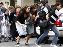 Dawson College student flee from the scene