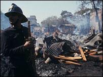 Scene of Mumbai blast, 1993