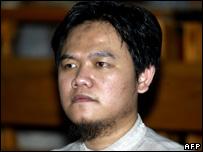 Anif Solchanudin hears the verdict in court