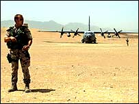 German Isaf soldier in Afghanistan