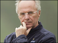 Former England coach Sven-Goran Eriksson