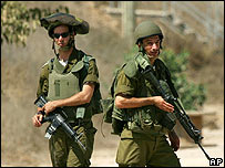 Israeli soldiers in Gaza Strip