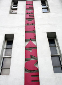 Remembrance sign on building