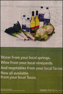 Tesco advert which was criticised by the Advertising Standards Authority