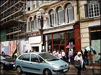 Queue outside David Morgan flats sale