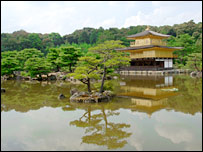 Golden temple, Kyoto.  Image: BBC