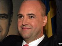 Moderate party leader Fredrik Reinfeldt