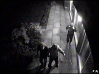 CCTV image of the burglary