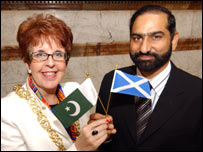 Glasgow and Lahore's civic leaders