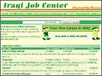 Anuncio en internet para trabajar en Irak