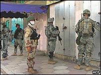 Soldados regulares en Irak.