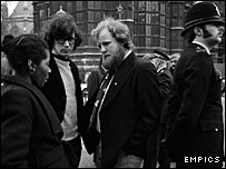 Charles Clarke (centre) at Westminster in 1975