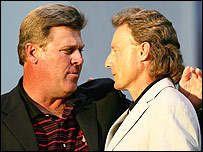 Hal Sutton and Bernhard Langer