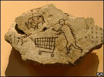 Peckham Rock, Banksy's hoax cave painting placed in the British Museum