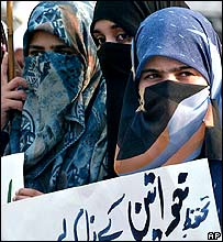 Women protest against reforming the law