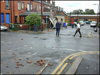 Residents inspect the damage, picture supplied by Martin Quinlan