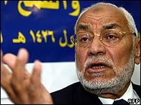 Muslim Brotherhood head Mohammed Mahdi Akef