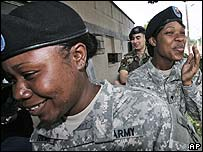 US soldiers at Yongsan base in South Korea
