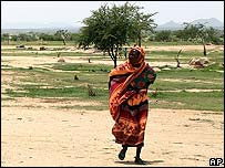 Darfur refugee in camp inside Chad this month