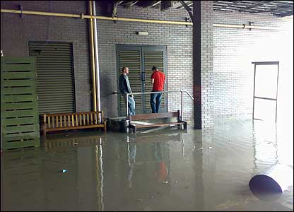 Two men stranded in flood