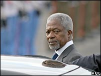The secretary-general of the United Nations, Kofi Annan