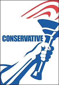 The Conservatives' previous logo