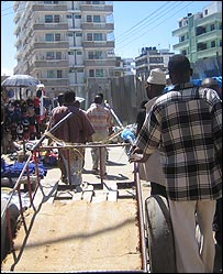 Kariakoo in Dar es Salaam where some of the youths trade drugs