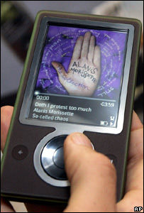 Microsoft Zune player, AP