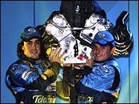 Renault F1 drivers Fernando Alonso and Giancarlo Fisichella