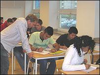 Class at Borgarskola, Malmo