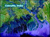 Calcutta map (from movie An Inconvenient Truth)