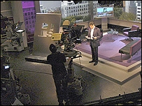 Jon Sopel on set