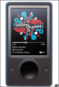 Zune player, AP