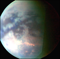 Titan (Image: Nasa/JPL/University of Arizona)