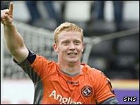 Dundee United midfielder Barry Robson