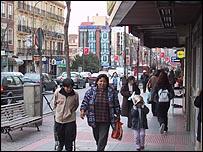 Inmigrantes latinoamericanos en Espa�a.