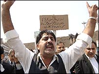 A rally against the Pope's remarks in Srinagar, Kashmir, on Friday