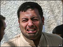 Crying Iraqi man