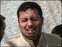 Crying Iraqi man