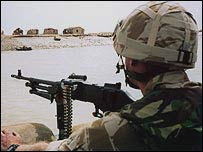 British soldier on duty in Iraq