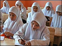 Girls in a school in Aceh, Indonesia