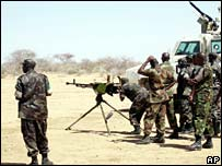 Kenyan, Zambian and Rwandan AU troops in Darfur